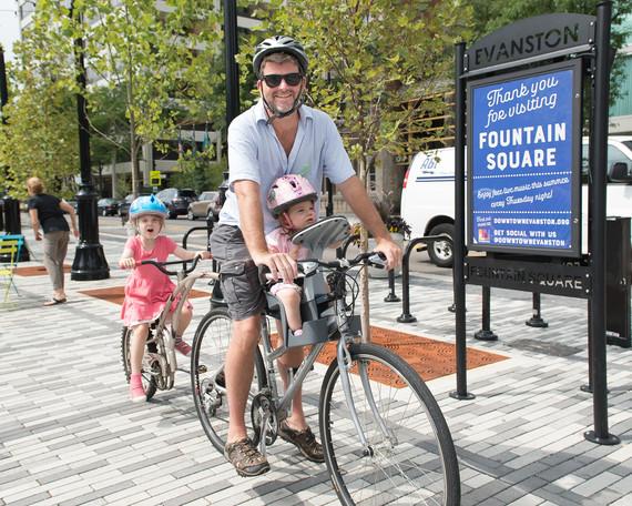 father on a bike