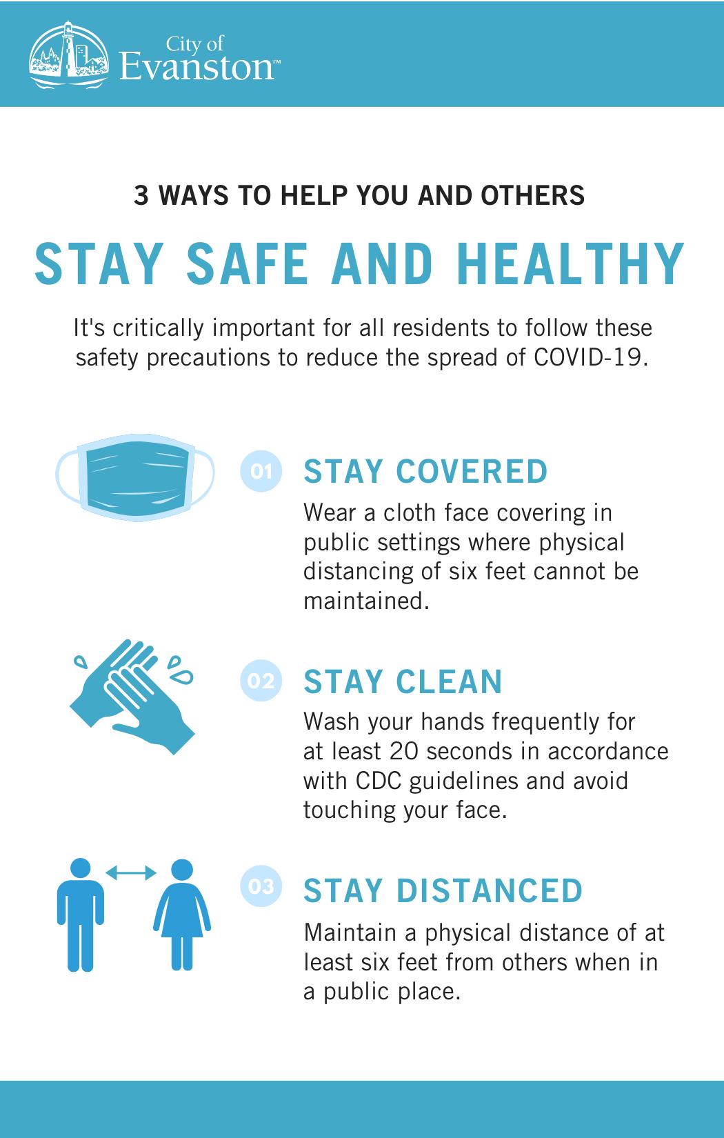 Three ways to stay safe COVID-19