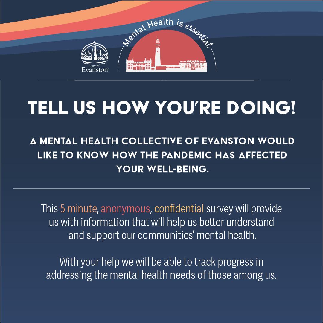 Mental health is essential survey promo