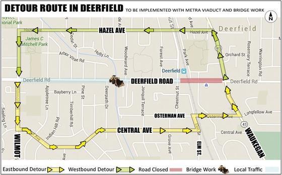 Deerfield Road Detour