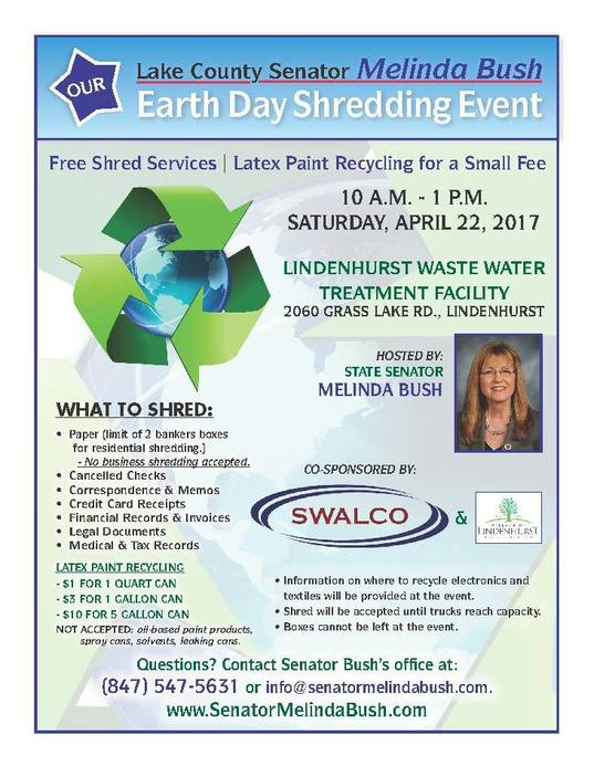 Senator Bush Earth Day Event 2017