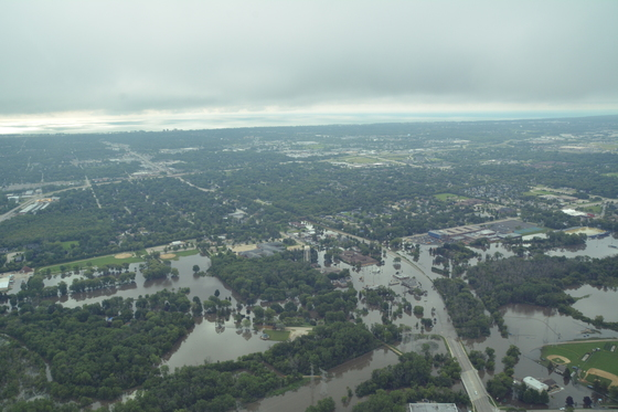 Aerial View - Flooding