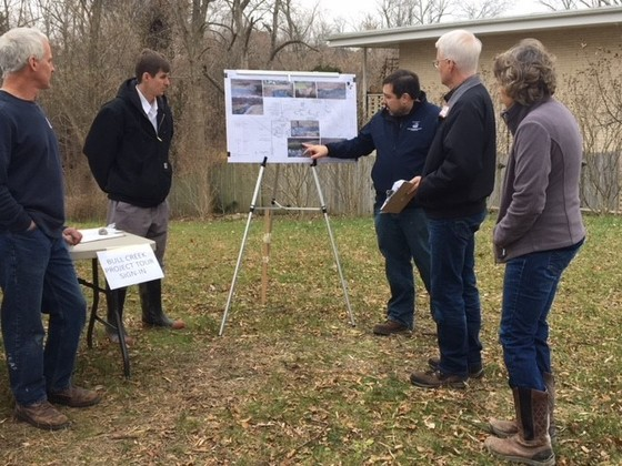 Tour of Bull creek restoration project