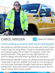 Carol plow driver profile