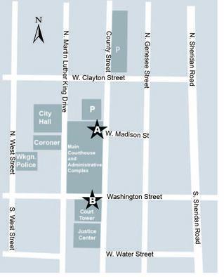 Map of downtown Waukegan