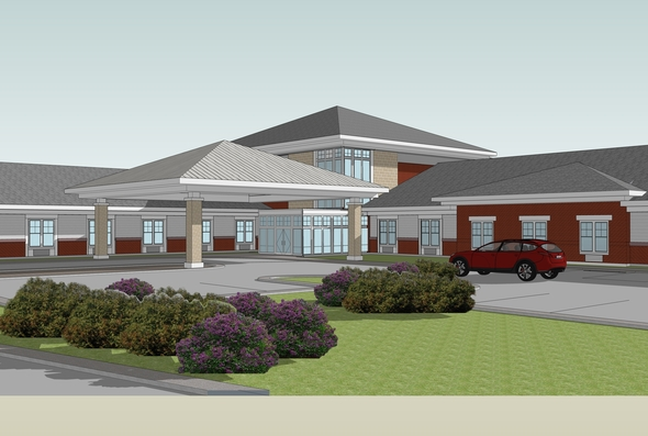 Rendering of Transitional Care Building