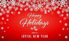 Large Happy Holidays