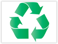 Recycle logo with effects