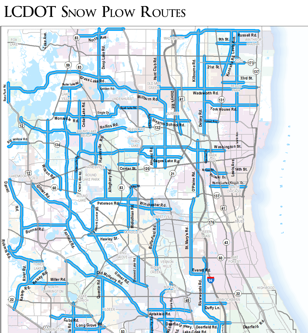 LCDOT Plow Routes PNG