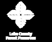 Forest Preserves White Logo redesign 2020