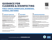 Cleaning and Disinfecting Guidance CDC