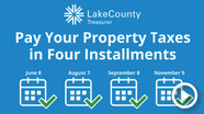 pay property taxes in four installments