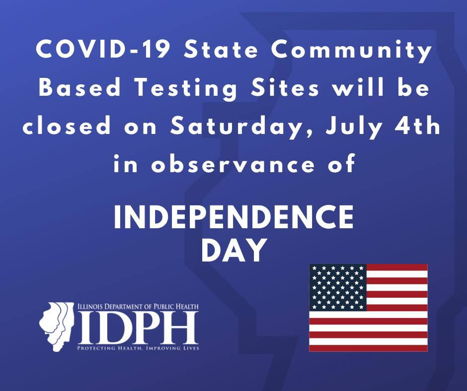 July 4 Testing Sites Closed