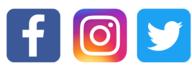 Facebook, Instagram and Twitter