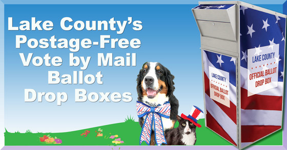 Lake County's Postage Free Vote by Mail Drop Boxes