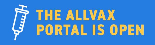 AllVax Portal Launch English Header