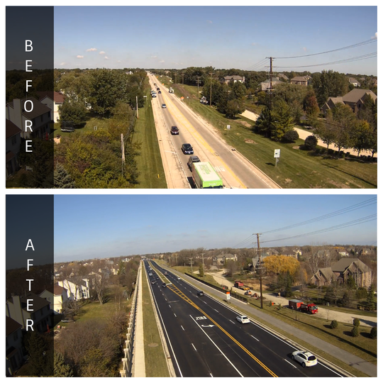 Quentin Road Before and After