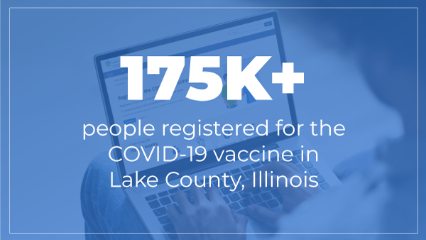 More than 175,000 people registered for the COVID-19 vaccine in Lake County, Illinois