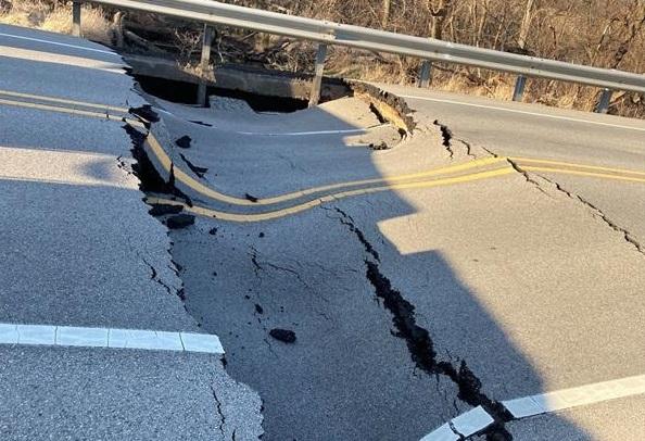 Stearns School Road Pavement Failure