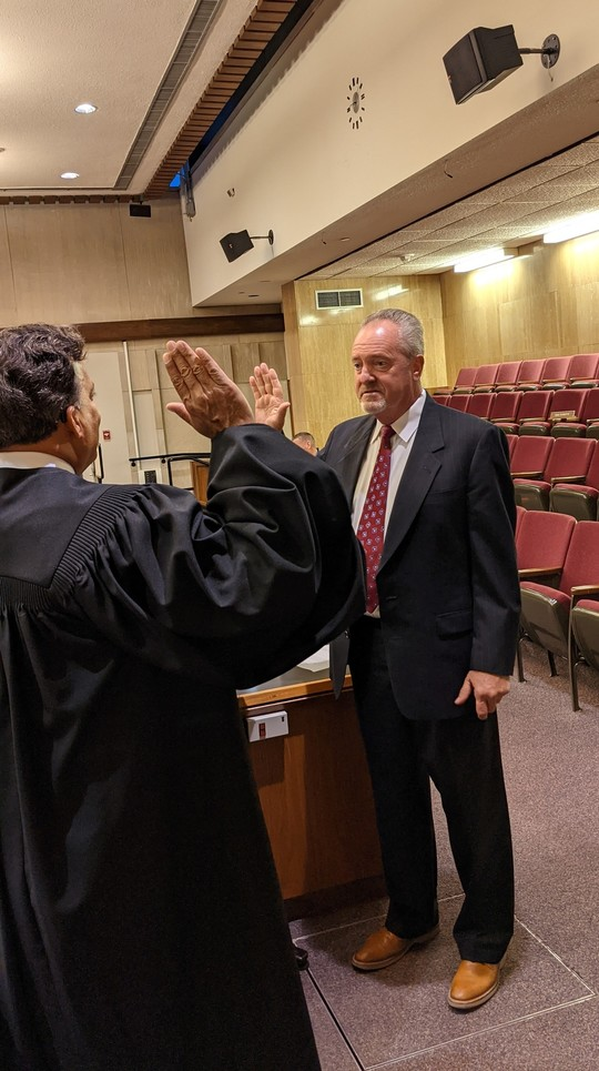 J. Kevin Hunter Getting Sworn In