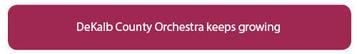 dekalb orchestra