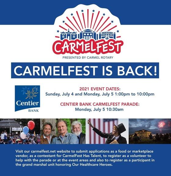 CarmelFest flyer