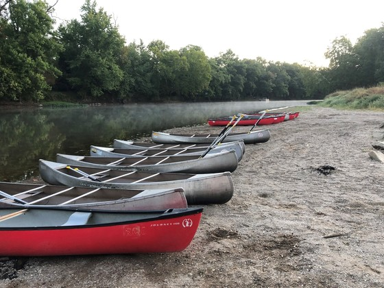 White River clean up canoes