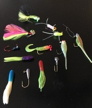 Examples of lures and crappie jigs
