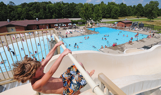 See what s new at indiana s state parks this year - Clifty falls state park swimming pool ...