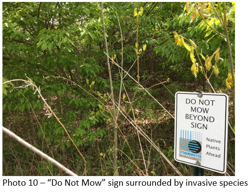 do not mow sign