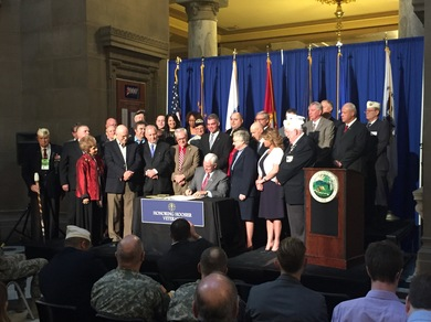 Gov Pence Veteran Bill Signing