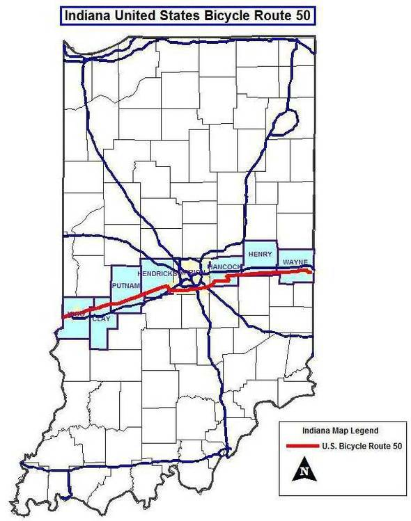 Three Us Bicycle Routes To Cross Indiana Promoting Tourism And - Us-bicycle-route-system-map