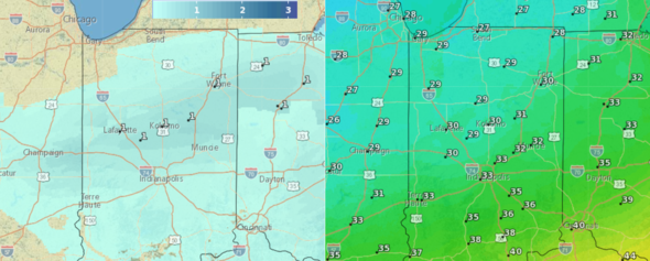 Winter Resumes Wednesday Across North Central Indiana