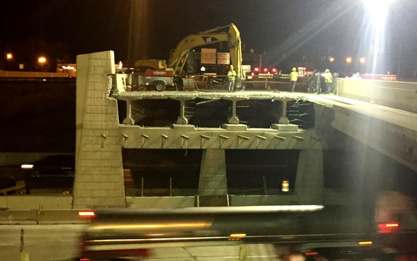 Bridge section                                 removed
