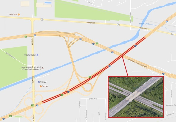I-94 Lane Closures for Bridge Restoration Project in Portage Indiana Road Map With Mile Markers on mississippi river navigation mile markers, united states river maps with mile markers, tennessee river mile markers, indiana road map with cities, indiana state map counties roads, indiana road maps atlas, indiana toll gate map, interstate 40 tennessee mile markers, indiana road conditions, indiana roads under construction, indiana road map with exit numbers, indiana street map, colorado state highway mile markers, indiana interstate 90 exits, montana state map including mile post markers, interstate maps with mile markers,