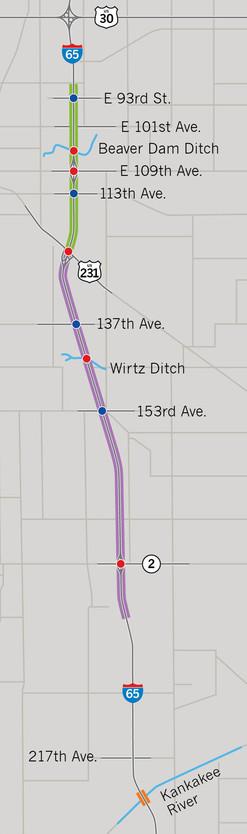I-65 Northwest project map