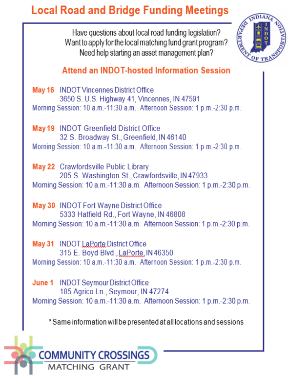 Community Crossings meeting schedule