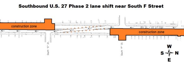 Phase 2 lane shift
