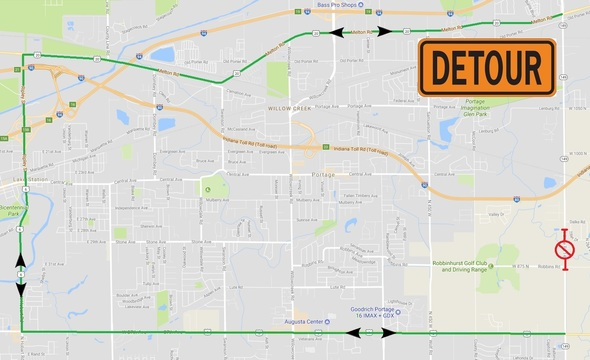 Schedule Change*** State Road 149 Closure for Bridge ... on us highway 31 michigan map, illiana expressway toll road map, interstate 49 missouri map, south bend indiana road map,