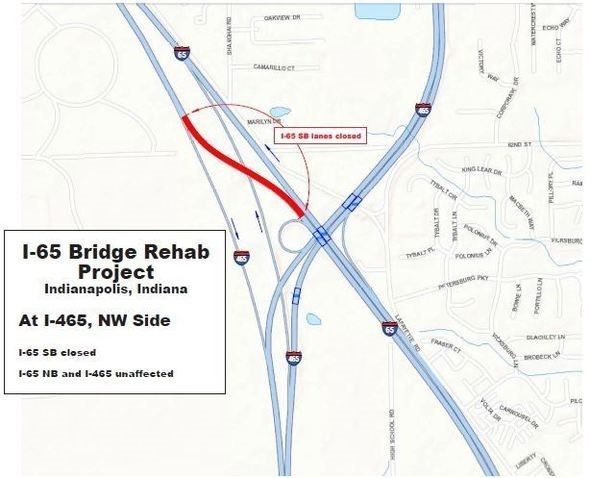 INDOT Plans to Close Portion of Interstate 65 in Indianapolis on