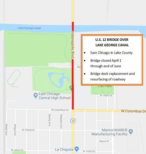 Indy Blvd  bridge in East Chicago to close for deck replacement
