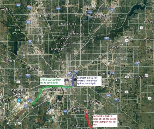 I-65 closures 6.7