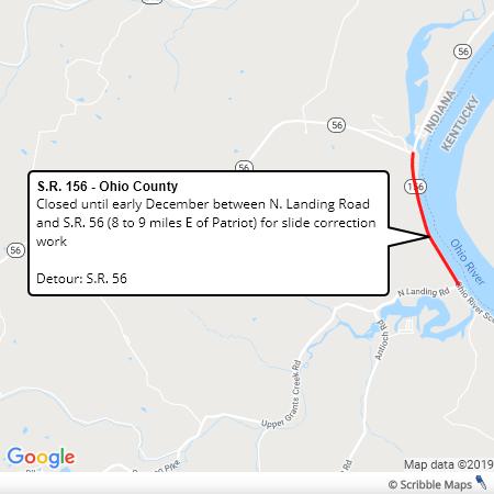 SR 156 Slide Correction Ohio Co