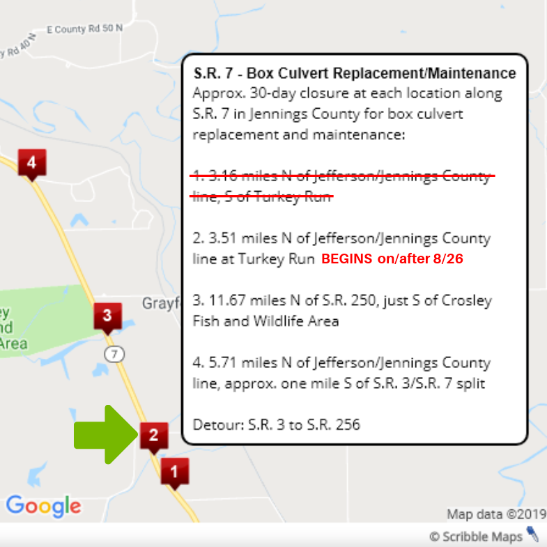 SR 7 Culvert Update 8-26