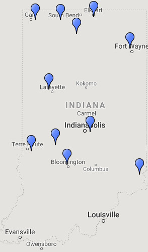 INDOT Statewide Job Fair Map