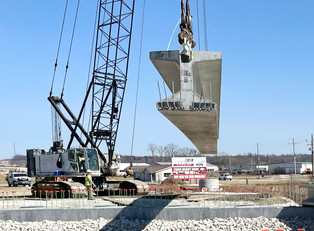 Bridge beam installation