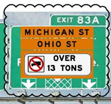 Truck Restriction Sign
