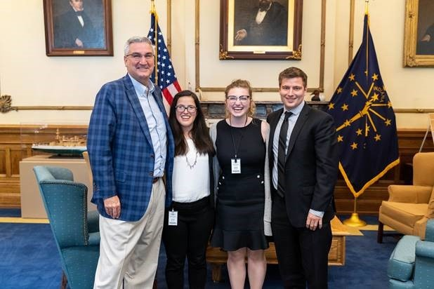Governor Holcomb and Fellows
