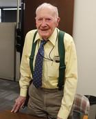 Bob Vollmer, 102-year-old DNR surveyor.
