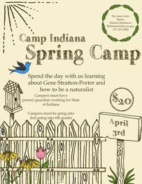 Flyer for Camp Indiana Spring Camp